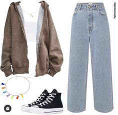 Swaggy Outfits, Cute Casual Outfits, Simple Outfits, Outfits For Teens, Stylish Outfits, Kpop Fashion Outfits, Indie Outfits, Retro Outfits, Vintage Outfits