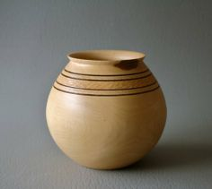 """Wooden Elm Bowl/Vase [A reminder to use the """"burn with a wire"""" technique]"""