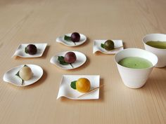 Wasara: Beautiful and compostable Japanese tableware: Even more interesting are those delectable looking balls! #Wasara #Green #Tableware