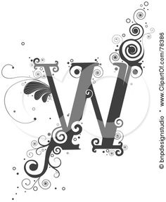 Google Image Result For Imagesclipartof Small 78386 Royalty Free RF Clipart Illustration Of A Vine Alphabet Letter W