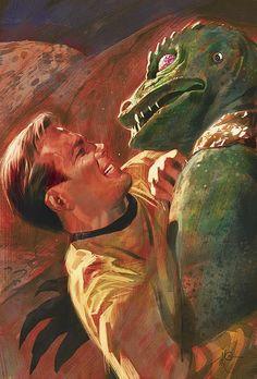 kirk and alien lizard