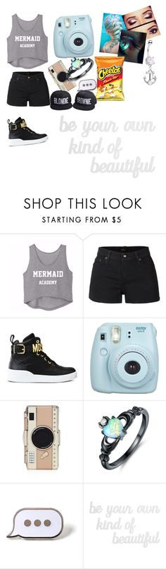"""Be your own kind of beautiful"" by imyogirl16 ❤ liked on Polyvore featuring LE3NO, Moschino, Fujifilm, Kate Spade, Peermont, PINTRILL and PBteen"
