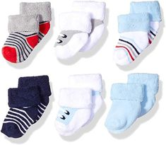 Luvable Friends Unisex Baby Newborn and Baby Socks Set Cute Baby Boy Outfits, Baby Boy Hats, Little Boy Outfits, Cute Baby Clothes, Baby Boys, Newborn Shoes, Baby Newborn, Boys Socks, Baby Shower Gifts For Boys