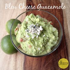 Celebrate Cinco de Mayo with this simple blue cheese guacamole dip! Mix avocados and cheese together for a fun May 5th appetizer!