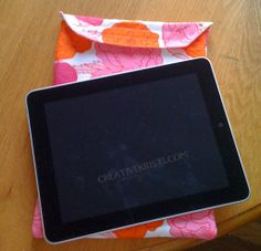 Ipad Case Tutorial. I have some really cute quilted placemats I want to adapt to this. Going to do this weekend… and maybe make my own tutorial!