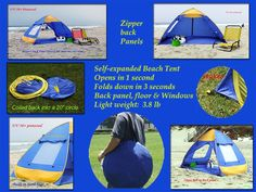 Amazon.com Genji Sports Pop Up Family Beach Tent And Beach Sunshelter Sports  sc 1 st  Pinterest : best family beach tent - memphite.com