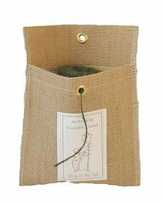 Burlap Garden Twine Dispenser  by sting in the tail  £4.95