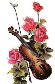 Image result for violin and flowers clipart