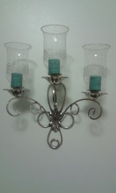 "Angelique 3-cup Sconce w/ ""Park Lane"" Votive Cups- Home Interiors & Gifts, Inc. R. Winston House Interior, Home Interiors And Gifts, Etsy, Wall Lights, Candle Sconces, Things To Sell, Retro Home, Homco, Interior Pictures"