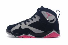 promo code ec96c 50696 Air Jordan 7 GS Fuchsia Black Sport Pink-Grey Discount 8052 Nike Running  Shoes Women