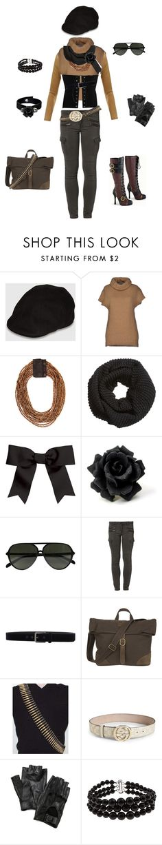"""""""Coco Adel-RWBY"""" by conquistadorofsorts ❤ liked on Polyvore featuring Goorin, LO not EQUAL, Brunello Cucinelli, H&M, Chassè, CÉLINE, Liebeskind, Class Roberto Cavalli, United by Blue and Gucci"""