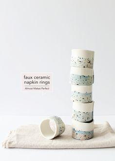 Faux Ceramic Napkin Rings