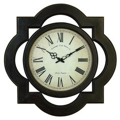Uniquely Scalloped Wood Wall Clock - Overstock™ Shopping - Great Deals on Clocks