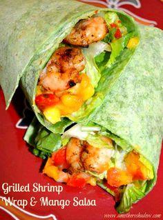 Grilled Shrimp Wrap | mango salsa | sandwich | lunch