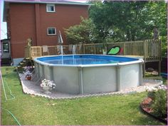 Above Ground Pool Edging Ideas above ground pool decks Image Result For Above Ground Pool Landscape Designs
