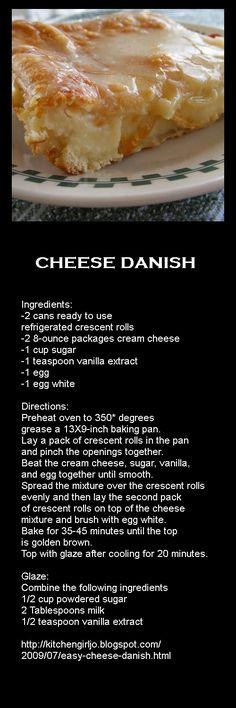 Cheese Danish.