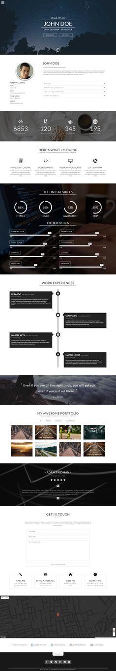 ahmed beheiry (ahmedbeheiry) on Pinterest - resume html template