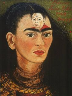 Diego y yo[Diego and I]. 1949. Oil on canvas mounted on masonite, 29.5 x 22.4 cm. Collection of Mary Anne Martin Fine Arts, New York, USA.