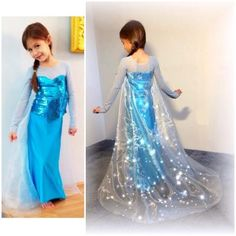 Elsa inspired gown, PDF printable sewing pattern   Christen Noelle