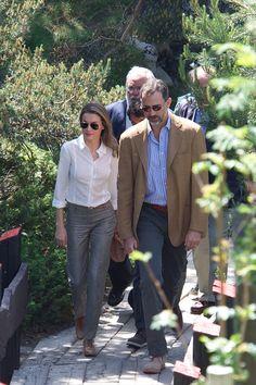 Prince Felipe  and Princess Letizia visit the new National Park of Sierra de Guadarrama in Rascafria