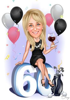 Happy Birthday 60, Happy Birthday Pictures, Caricature From Photo, Caricature Drawing, All Emoji, Graffiti Characters, Celebrity Caricatures, Illustrations And Posters, Cartoon Kids