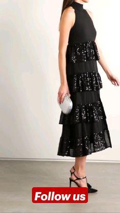 Chiffon Dress, Lace Skirt, Midi Skirt, Frock Style Kurti, Fancy Dress, Dress Up, Knife Pleated Skirt, Bridal Silk Saree, Prom Dresses Long With Sleeves