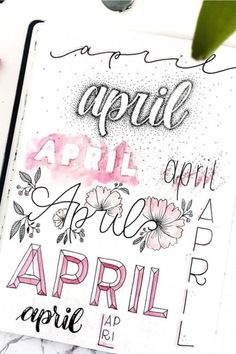 Best April Bullet Journal Header Ideas For 2020 - Crazy Laura If you need help starting out your spreads and layouts for the month, then check out these super cute bullet journal april headers for inspriation! April Bullet Journal, Bullet Journal Headers, Bullet Journal Banner, Bullet Journal Writing, Bullet Journal School, Bullet Journal Aesthetic, Bullet Journal Ideas Pages, Bullet Journal Layout, Bullet Journal Inspiration