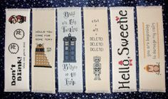 Cross stitch bookmark pattern bundle of 3 - Your choice of Doctor Who, Firefly Inspired PDF patterns. $8.00, via Etsy.