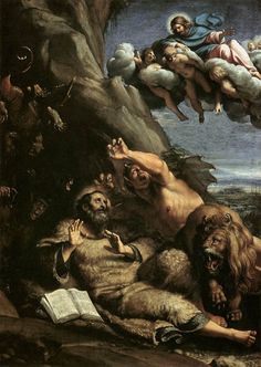 Ludovico Carracci, The Temptation of Saint Anthony  https://en.wikipedia.org/wiki/Ludovico_Carracci