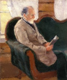 Edvard Munch - 1883, his father Christian Munch on the Couch