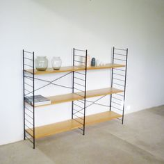 grosses String Regal  WHB elm wood  made in germany   wall unit  midcentury modern interior von yourhomeplus