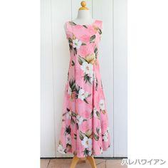 ハワイアンムームー レーヨンノースリーブロングドレス 【 ラニハイビスカス 】 ピンク Hula, Sewing Clothes, Hawaiian, Fashion Outfits, Summer Dresses, My Style, Classic, Derby, Stitch Clothing