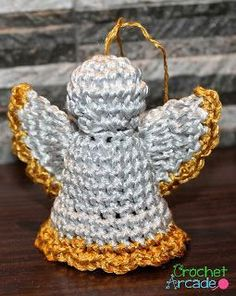 "Crochet Angel Christmas Ornament - Tutorial ❥ 4U hilariafina  <a href=""http://www.pinterest.com/hilariafina/"" rel=""nofollow"" target=""_blank"">www.pinterest.com...</a>"