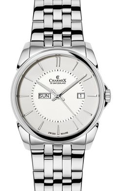 The NEW YORKER by Charmex of Switzerland™; luxury Swiss Made wrist watches on the official Charmex of Switzerland™ website Stainless Steel Bracelet, Stainless Steel Case, Omega Watch, Switzerland, Rolex Watches, Sapphire, Quartz, Butterfly, Jewels