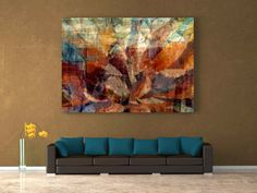Serenity Large Abstract Art Print 36x24x1.5 gallery by Eternitee
