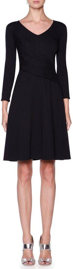 Giorgio Armani 3/4-Sleeve Jersey Dress