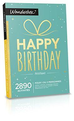 WONDERBOX – Coffret cadeau – HAPPY BIRTHDAY – pétillant –: Coffret cadeau Multi activités Pour 1 ou 2 personnes Validité Mars 2019 échange…