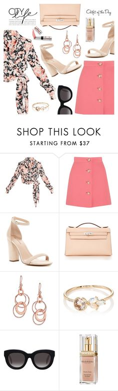 """""""Outfit of the Day"""" by dressedbyrose ❤ liked on Polyvore featuring Miu Miu, Call it SPRING, Hermès, Ippolita, Jennie Kwon, Muse, Elizabeth Arden, Ciaté, Petit Bateau and ootd"""