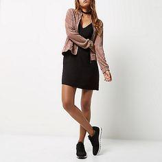 Rose pink crinkle bomber jacket - jackets - coats / jackets - women
