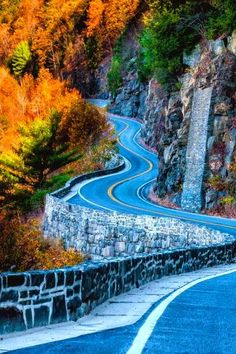 The long and winding road. Autumn Highway, Port Jervis, New York
