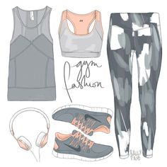 Gym Fashion - Style Illustration - Sally Cotterill, Fashion Illustrator, UK - Tap the pin if you love super heroes too! Cause guess what? you will LOVE these super hero fitness shirts! Moda Fashion, Uk Fashion, Fashion Flats, Sport Fashion, Fitness Fashion, Fashion Beauty, Fashion Design Drawings, Fashion Sketches, Fashion Illustrations