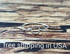 sterling silver hexi ring hexagon FREE SHIPPING by FoxCFashion