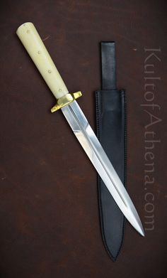Sword Design, Dagger Knife, Teacup Puppies, Custom Knives, High Carbon Steel, Stitching Leather, Survival Prepping, Shadow Box, Weapons