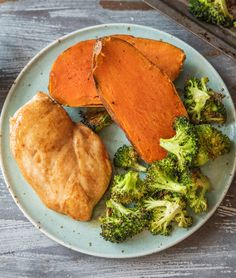 "Easy maple glazed chicken with sweet potatoes and roasted broccoli | Try yummy HelloFresh recipes today with code ""HelloPinterest"" and receive $25 off your first  box."