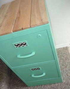 upcycle an old filing cabinet... for the home school room :)                                                                                                                                                                                 More