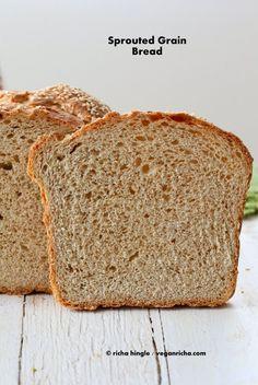 Sprouted Wheat Millet Sandwich Bread. Vegan Recipe | Vegan Richa