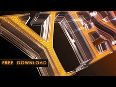 TEMPLATE FREE FOR CINEMA 4D - TEXT LED STYLE - YouTube
