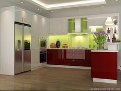 Kính màu ốp bếp mang lại vẻ đẹp sang trọng ngôi nhà của bạn