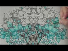 (66) How I color a magic tree Tutorial 2 Prismacolor enchanted forest by Johanna Basford Mein Zauberwald - YouTube