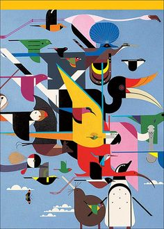 Wings of the World by Charley Harper. Currently hanging in my living room.